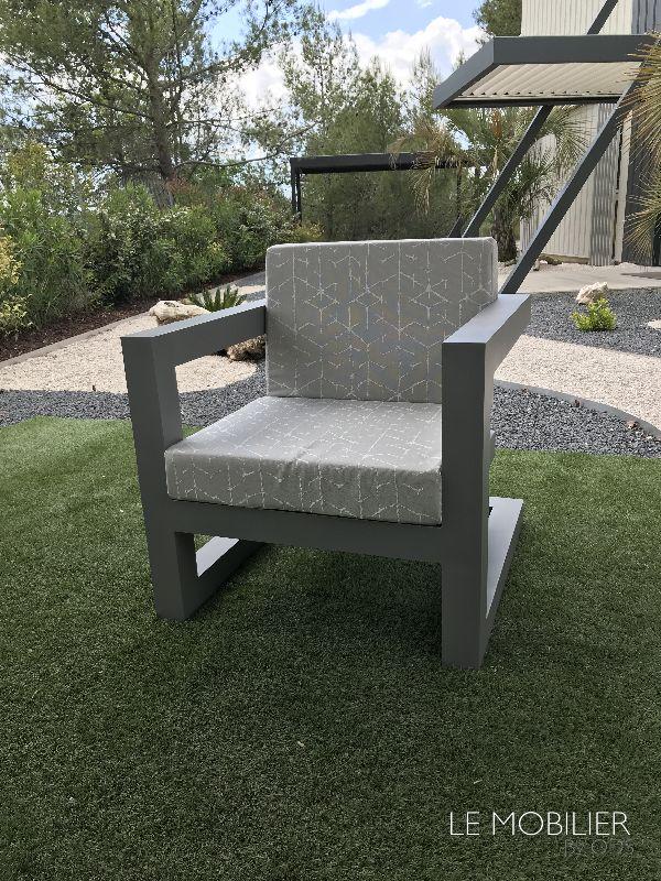 Fauteuil outdoor en aluminium Antibes