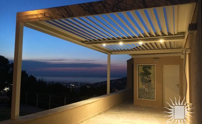 Éclairage pour pergola moderne Antibes