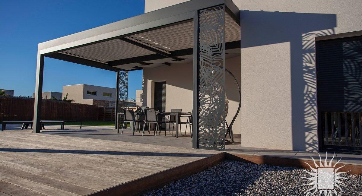 Pergola aluminium moderne Montpellier