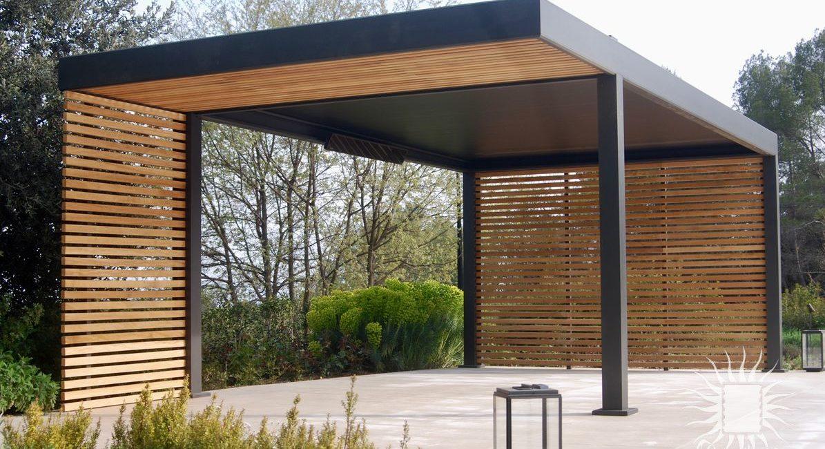 Pergola aluminium et bois luxe Montpellier